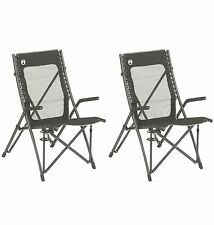 (2) COLEMAN ComfortSmart Suspension Camping Folding Chairs w/ Mesh Back & Bag