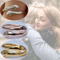 925 Silber Liebe Umarmung Ring Open Finger Voll Einstellbare Frauen Männer Neu
