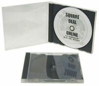 (10) CDBSIR Clear CD Jewel Boxes Cases & Dark Grey Black Includes Trays Gray NEW