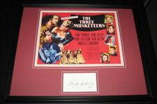 Angela Lansbury Signed Framed 16x20 Photo Display Three Musketeers