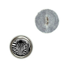 Zebra Face - Safari Animal Print Stripes - Craft Sewing Novelty Buttons Set of 4