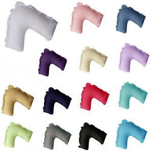 Multicolor Choice V Shape/Tri/Boomerang Ruffled Egding Pillowcase