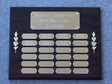 Perpetual Award Plaque 24 Plate, 12x15 Trophy Cherry Finish FREE Engraving