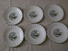 Limoges Currier & Ives Semi-scalloped Saucer
