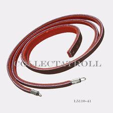 "Authentic TrollBeads Red/Bordeaux Leather Bracelet No Lock 13.2"" TLEBR-00022"