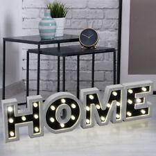 LED Leucht Deko HOME Schriftzug Lampe Wohn Zimmer Steh Tisch Design Beleuchtung