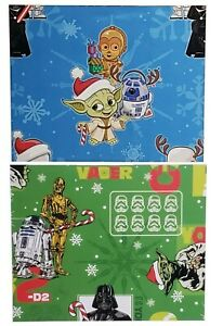 Hallmark Disney Lucasfilm Star Wars Gift Wrap Christmas Xmas Wrapping Paper Yoda