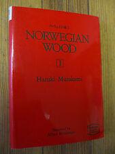 Norwegian Wood, Vol. 1, 1st Edition, Haruki Murakami  Pub. Kodansha-1989