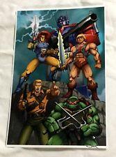 1980s Toys Icons Hero Transformers He-Man Gi Joe Thundercats TMNT Poster 11x17