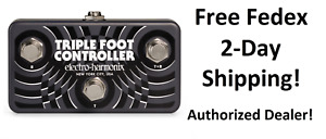 New Electro-Harmonix EHX Triple Foot Controller Utility Pedal w/ TRS Cable