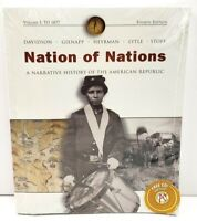 Nation Of Nations 4th Edition Volume 1 Paperback Textbook American Republic NEW