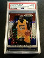 SHAQUILLE O'NEAL 2013 PANINI PRIZM RED WHITE BLUE PULSAR REFRACTOR PSA 10