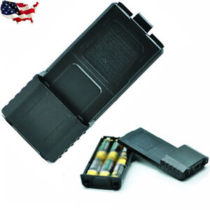 UV-5R or plus 6XAA Extended 2 way radio Battery Case Shell for Baofeng