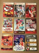 Lot of 9 Pat Patrick Mahomes Ii Kansas City Chiefs 2017 Rookie Cards Rookies Mvp