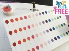 PP092 -- Little Balloons Icons Life Planner Stickers for Erin Condren (60pcs)