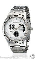 Invaders INV-BRAG-WHT Chronolook Stainless Steel chain watch for Men/Boys