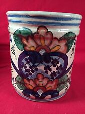 Mexican Pottery Hand Painted Crock/Vase