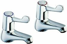 """Twyford Lever Action Taps 1/2"""" Chrome SF2401CP"""