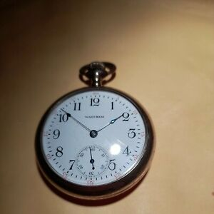 A Rare Vintage Gents 1914 Waltham Military Pocketwatch. Spares Or Repair.