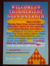 POSTCARD  THE SUN WALK - WELCOME TO THE GREATEST SHOW ON EARTH 30 JUNE 2013