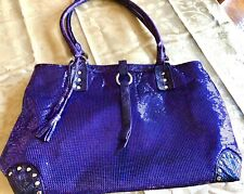Whiting & Davis large Stunning Purple Mesh handbag