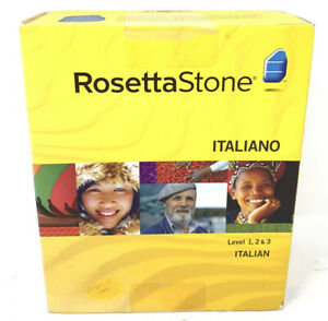 Rosetta Stone Italian Language Course Level 1 2 3 CD Sealed Box Ver 3 Win / Mac