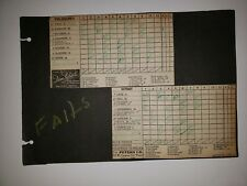 A's Tigers 1946 GameCard Scrapbook Sheet Hank Greenberg Majeski Jimmy Bloodworth