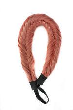 Fishtail Braided Elastic Headband - Maple Brown NEW