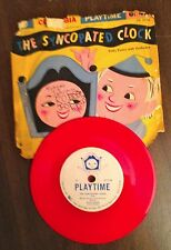 THE SYNCOPATED CLOCK 78 RPM red vinyl Dotty Evans w/orchestra Columbia Playtime