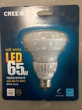 Cree (1) LED 65W Soft White (2700K) BR30 Dimmable LED Flood Light Bulb 9W New