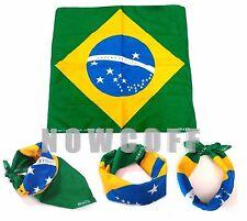 Bandana BRAZIL Flag Headwrap Biker Accessories Unisex Cloth Gift Decor Nation
