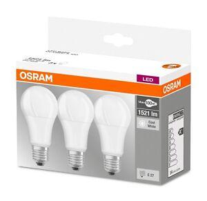 3er-Pack Osram LED E27 Leuchtmittel mattiert leistungsstark Neutralweiß wie 100W