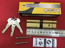 Genuine Yale Anti-Snap Euro Cylinder 50S-50 PB (100 mm) British Standard Brass