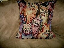 "CATS 18""  TAPESTRY PILLOW COVER"
