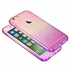 Shockproof 360 Silicone Protective Clear Gold Case Cover For iPhone6s SE 7 8plus