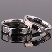 Hombre Mujer Anillos De Boda Anillo acero de titanio Ring Tamaño 5-12
