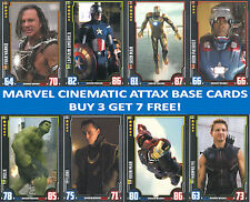 TOPPS HERO ATTAX  MARVEL CINEMATIC UNIVERSE CARDS - BUY 3 GET 7 FREE