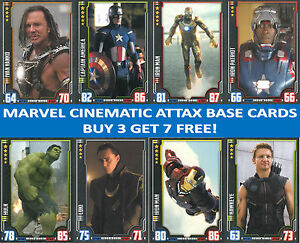 Topps Hero Attax MARVEL CINEMATIC UNIVERSE Trading Cards