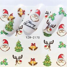 Winter Christmas Slider Nail Decals Nail Art Water Transfer Sticker DIY Manicure