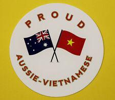 PROUD AUSSIE - VIETNAMESE AUSTRALIAN STICKER VINYL DECAL CAR UTE TRUCK CARAVAN