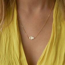 Evil Eye Pendant Gold Silver Chain Necklace Fashion Women Hamsa Fatima Hand God