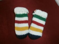 Hudson'S Bay Company (Hbc) Striped Knitted Infant Mittens 0-12 Months