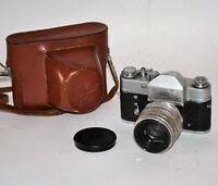"RARE 1962 RUSSIAN USSR ""ZENIT 3"" SLR camera + HELIOS-44 8-blades lens,f2/58 (1)"