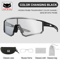 CATEYE Photochromic Cycling Glasses Outdoor Sports Anti-UV Bicycle Sunglasses