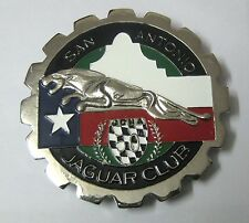 CAR BADGE - SAN ANTANIO JAGUAR CLUB CAR GRILL BADGE EMBLEM MG JAGUAR TRIUMPH POR