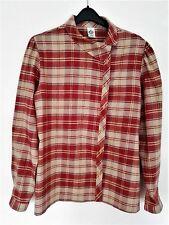 Check Shirt C&A;  Size 12-14; Long Sleeves; Main Colour: Brick Red & Khaki Beige