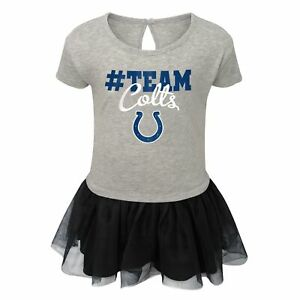 Outerstuff NFL Toddlers Indianapolis Colts Short Sleeve Heather Grey Game Dress
