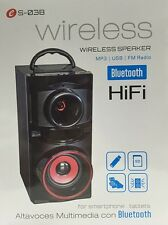 ALTAVOZ BLUETOOTH HIFI ES-03B MP3-USB-RADIO FM-15W-BATERIA- NUEVO-