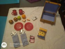 American Girl Doll Our Generation Picnic Basket Frisbee Pitcher Muffins Set NEW