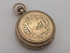 RARE 1885 Waltham 7J Size 8s Seaside Pocket Watch - 10k Solid Gold Hunter Case